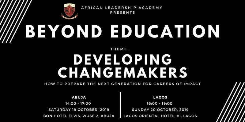 Beyond Education 2019 Conference (Lagos) – Developing Changemakers